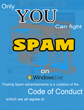 """Only You Can Fight Spam"" unofficial poster contest winning entry by Ed Grubb"